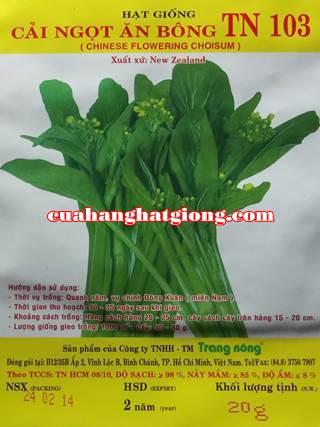 Hạt giống cải ngọt ăn bông_TN103