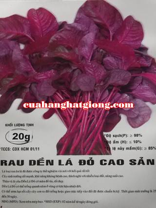 Hạt giống rau dền lá đỏ