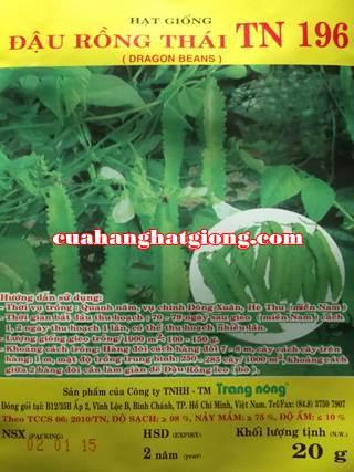 hạt giống đậu rồng thái_TN196